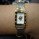 台中流當品拍賣 經典 CHARRIOL 夏利豪 鋼索 半金鍊 石英 女錶 9成5新 喜歡價可議 ZR134