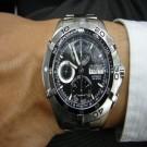 台中流當手錶拍賣 流當品 原裝 TAG HEUER 豪雅 不銹鋼 計時 自動 300M 男錶 9成新 喜歡價可議